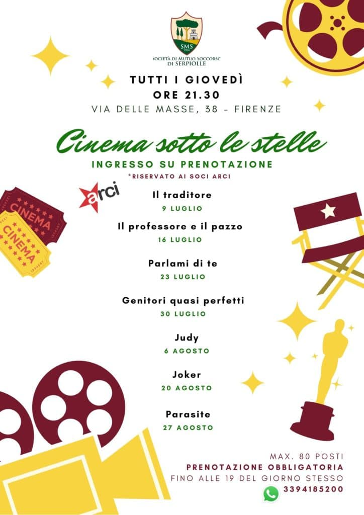 Cinema sotto le stelle estate 2020